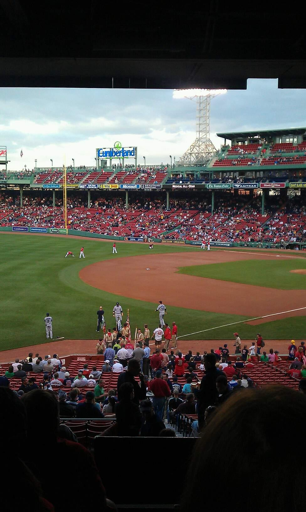 Fenway Park Section Grandstand 32 Row 12 Seat 4