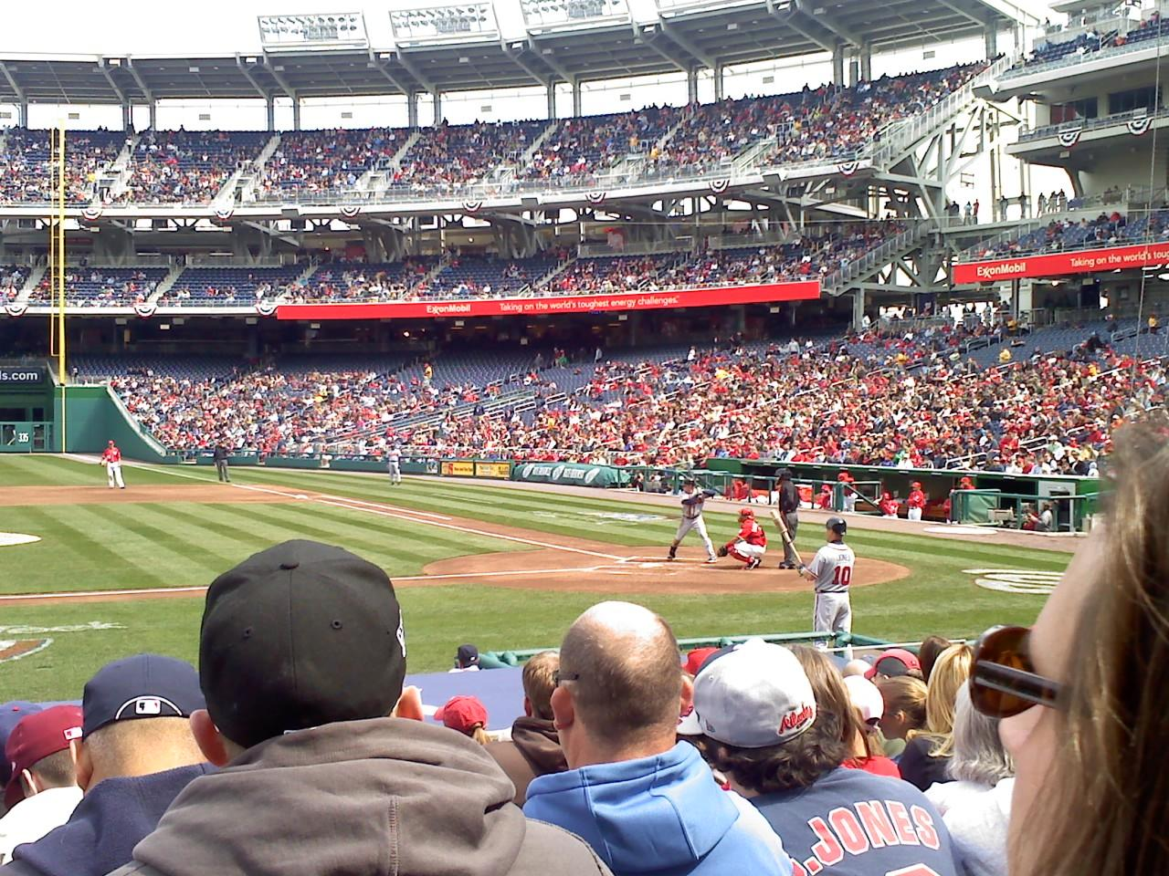 Nationals Park Section 117 Row P