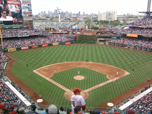 Citizens Bank Park Section 420 Row 8 Seat 12