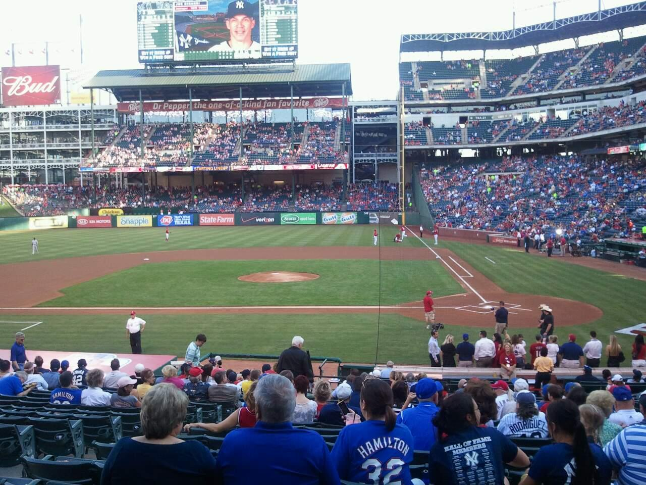 Globe Life Park in Arlington Section 21 Row 22 Seat 6