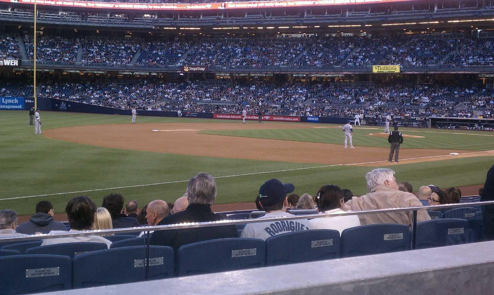 Yankee Stadium Section 128 Row 12 Seat 7