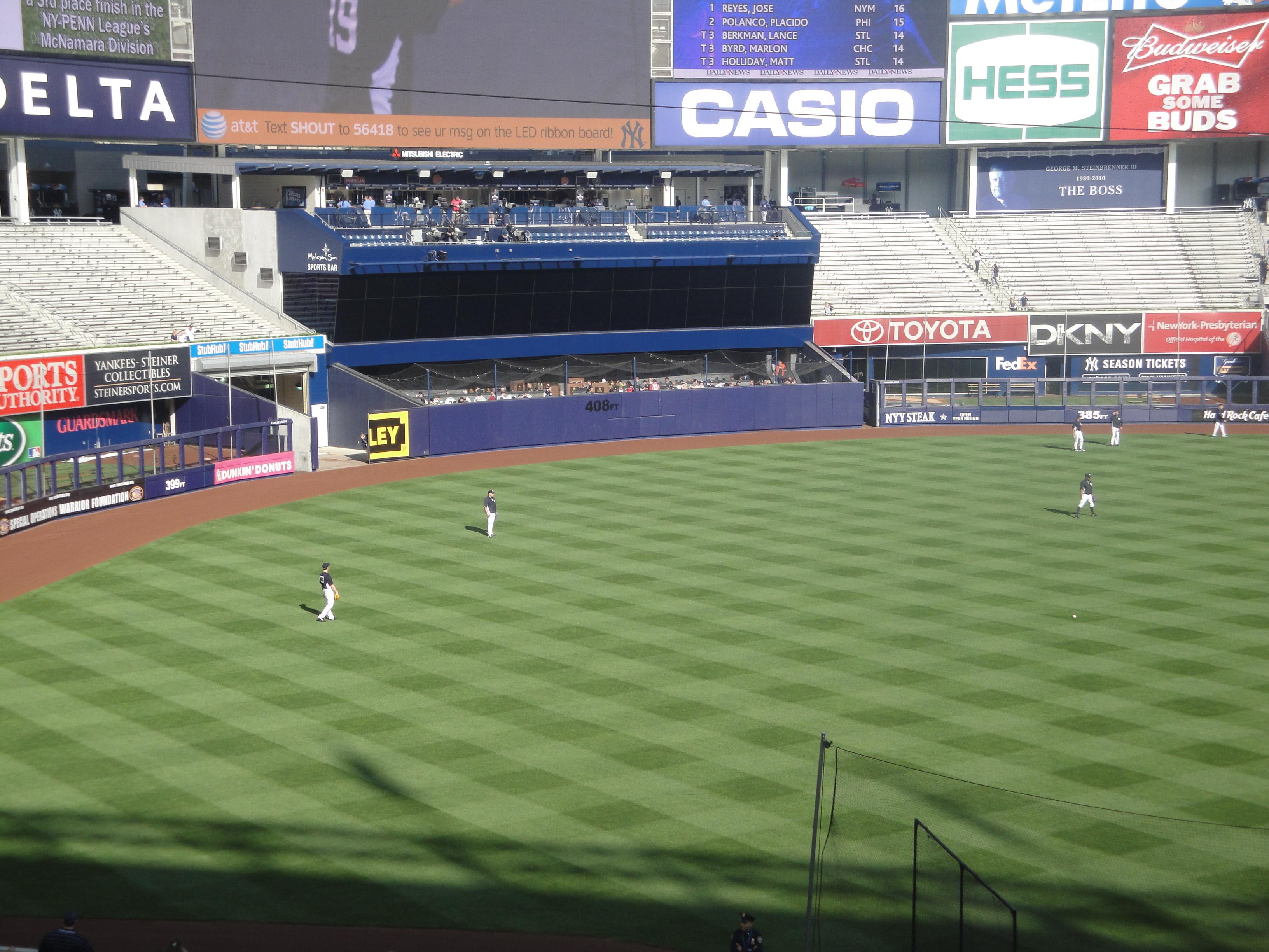 Yankee Stadium Section 228 Row 9 Seat 1