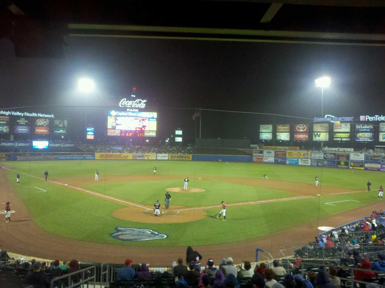 Coca-Cola Park Section 112 Row ! Seat 8