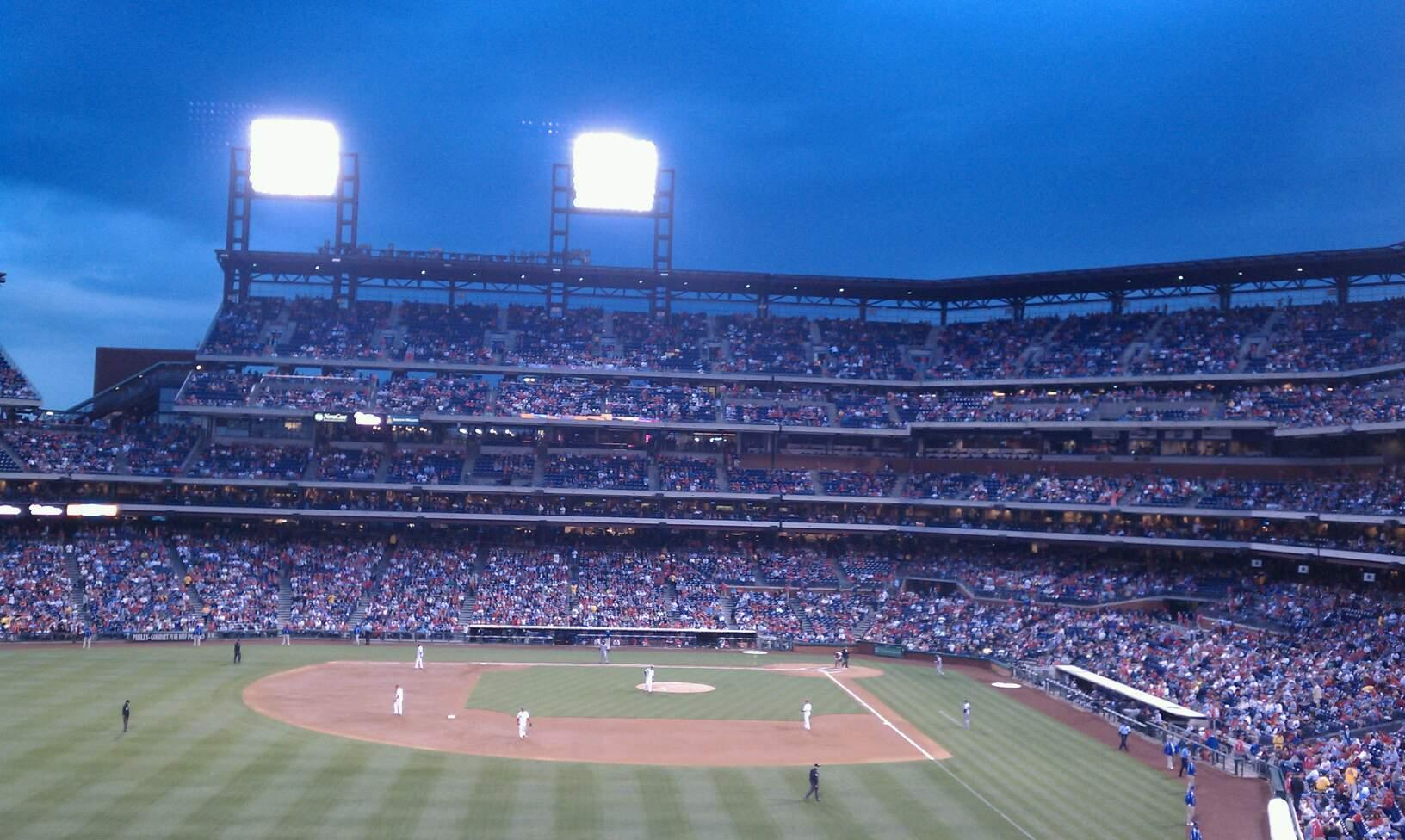 Citizens Bank Park Section 242 Row 7 Seat 12
