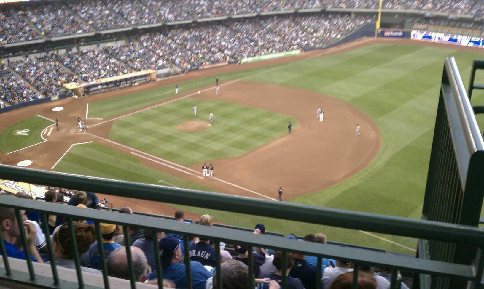 Miller park Section 411 Row 9 Seat 15