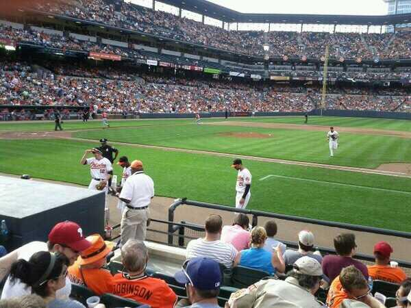 Oriole Park at Camden Yards Section 20 Row 8 Seat 6