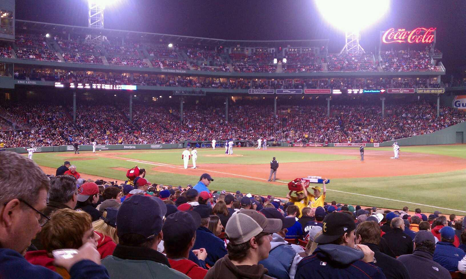 Fenway Park Section Loge Box 98 Row GG Seat 8