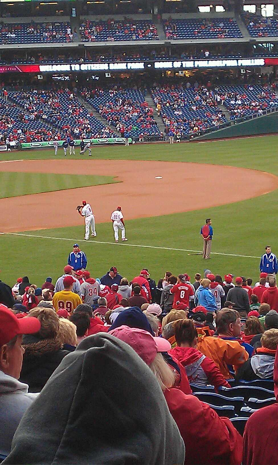 Citizens Bank Park Section 111 Row 30 Seat 8