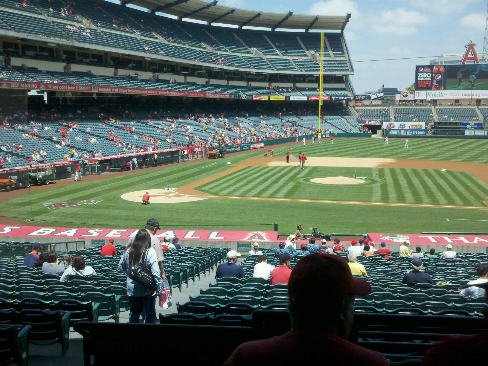 Angel Stadium Section T223 Row c Seat 1
