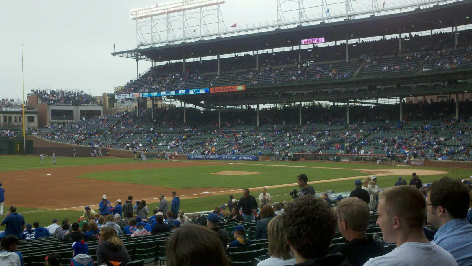 Wrigley Field Section 112 Row 9 Seat 7