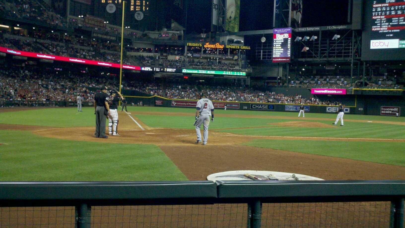 Chase Field Section h Row b Seat 6