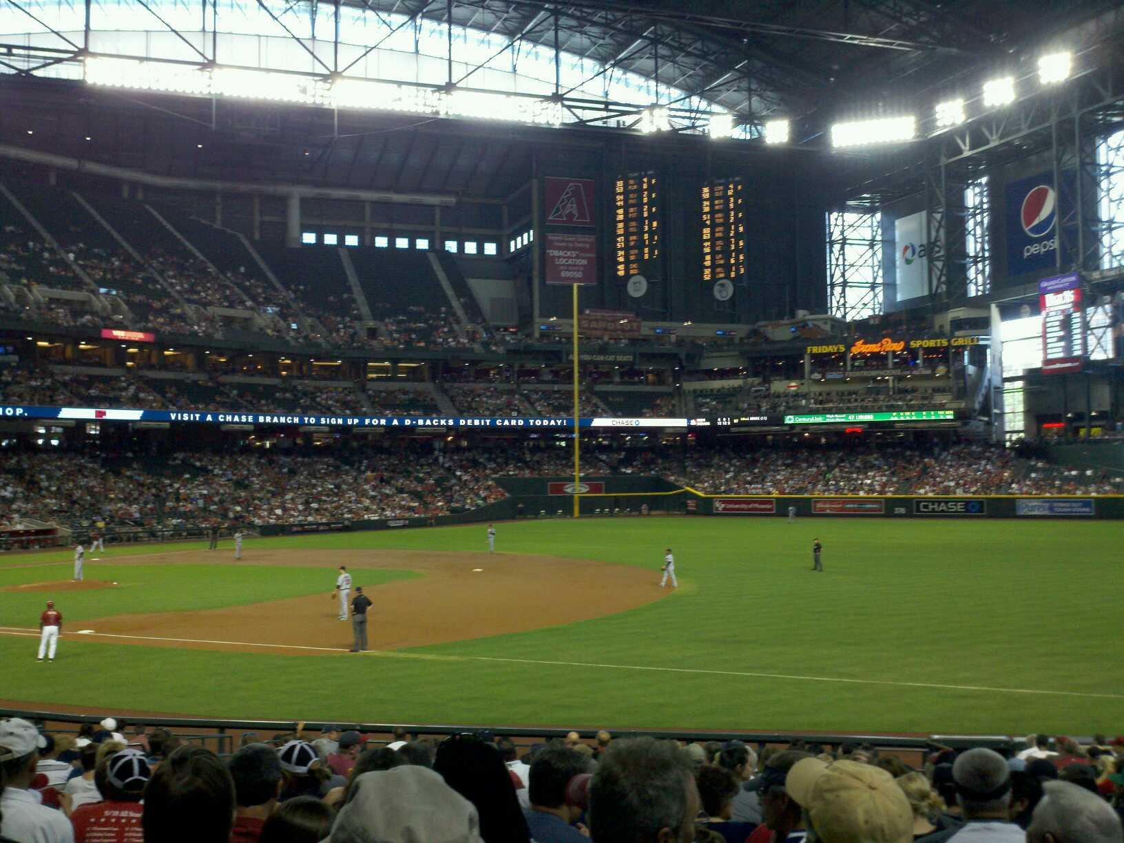 Chase Field Section 113 Row 26