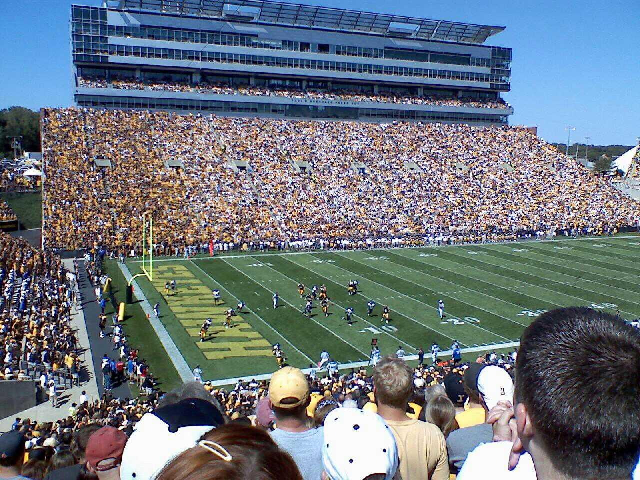 Kinnick Stadium Section 110 Row 55 Seat 14
