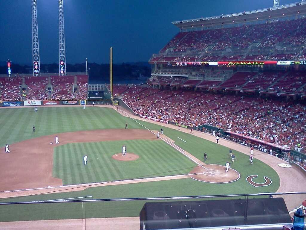 Great American Ball Park Section 417 Row B Seat 5