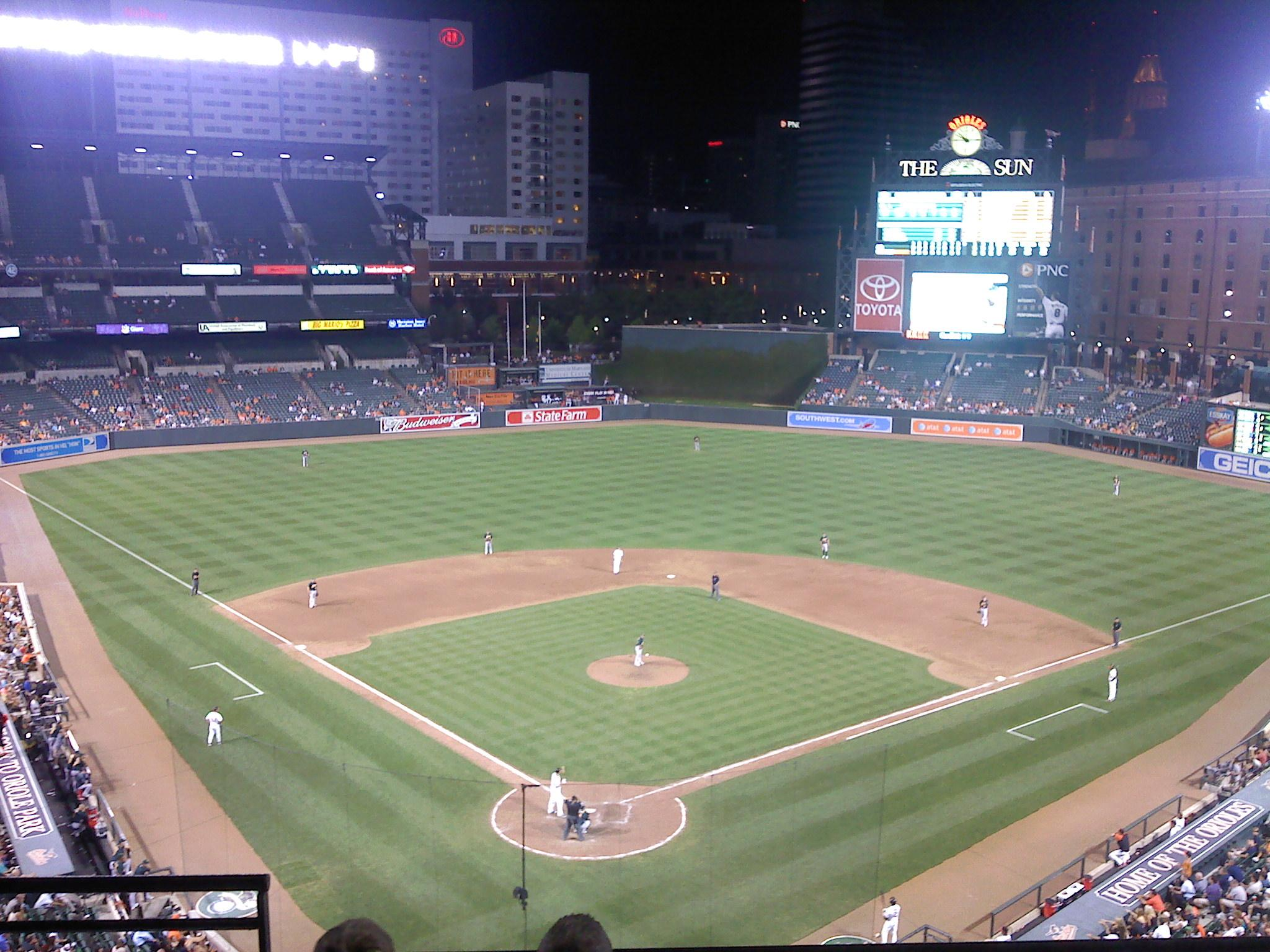Oriole Park At Camden Yards Section 334 Row 4 Seat 10