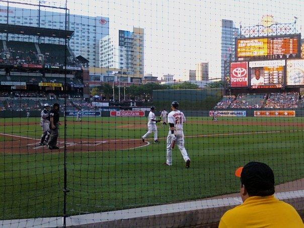 Oriole Park at Camden Yards Section 34 Row AAA Seat 6