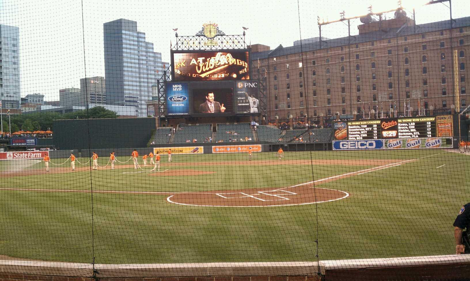 Oriole Park at Camden Yards Section 40 Row 7 Seat 4