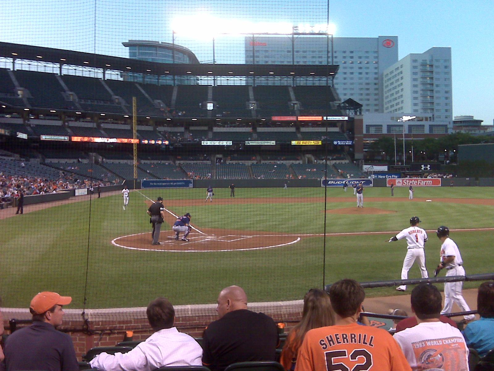 Oriole Park At Camden Yards Section 30 Row Dd Seat 3 Baltimore Orioles Vs Cleveland Indians