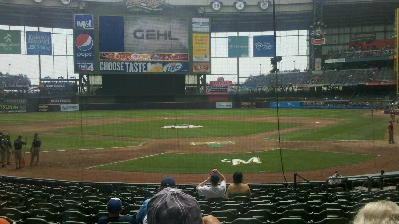 Miller Park Section 118 Row 15 Seat 13