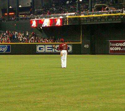 Chase Field Section 111 Row 2 Seat 12