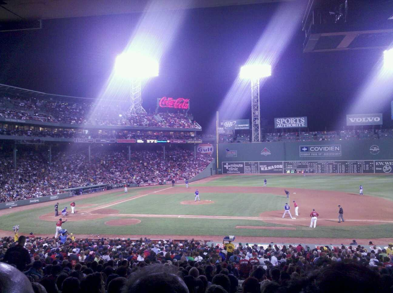 Fenway Park Section Grandstand 15 Row 9 Seat 13