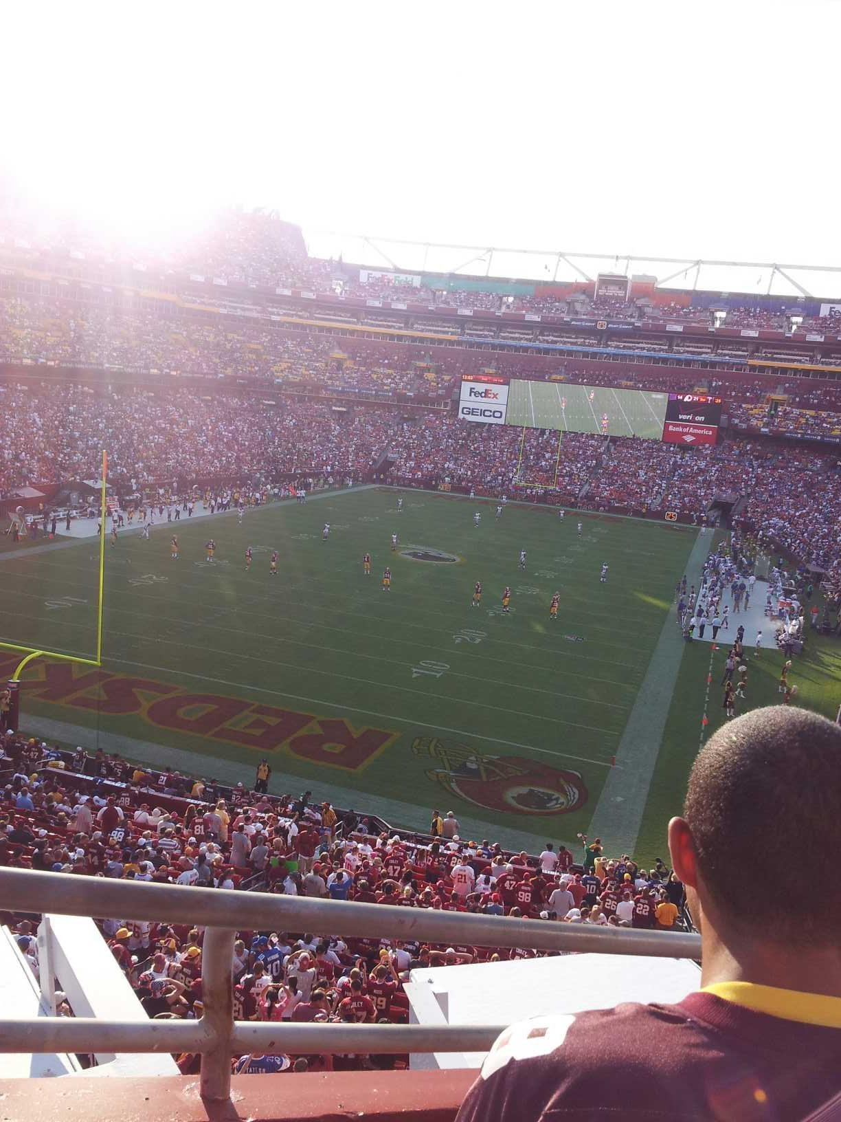 FedEx Field Section 330 Row 5 Seat 7