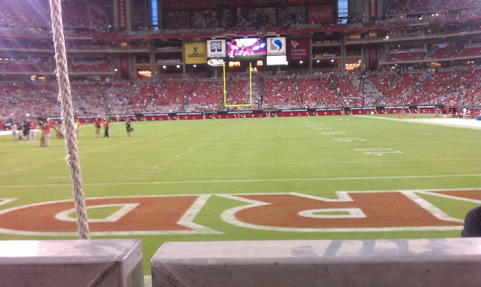 State Farm Stadium Section 139 Row 1 Seat 8