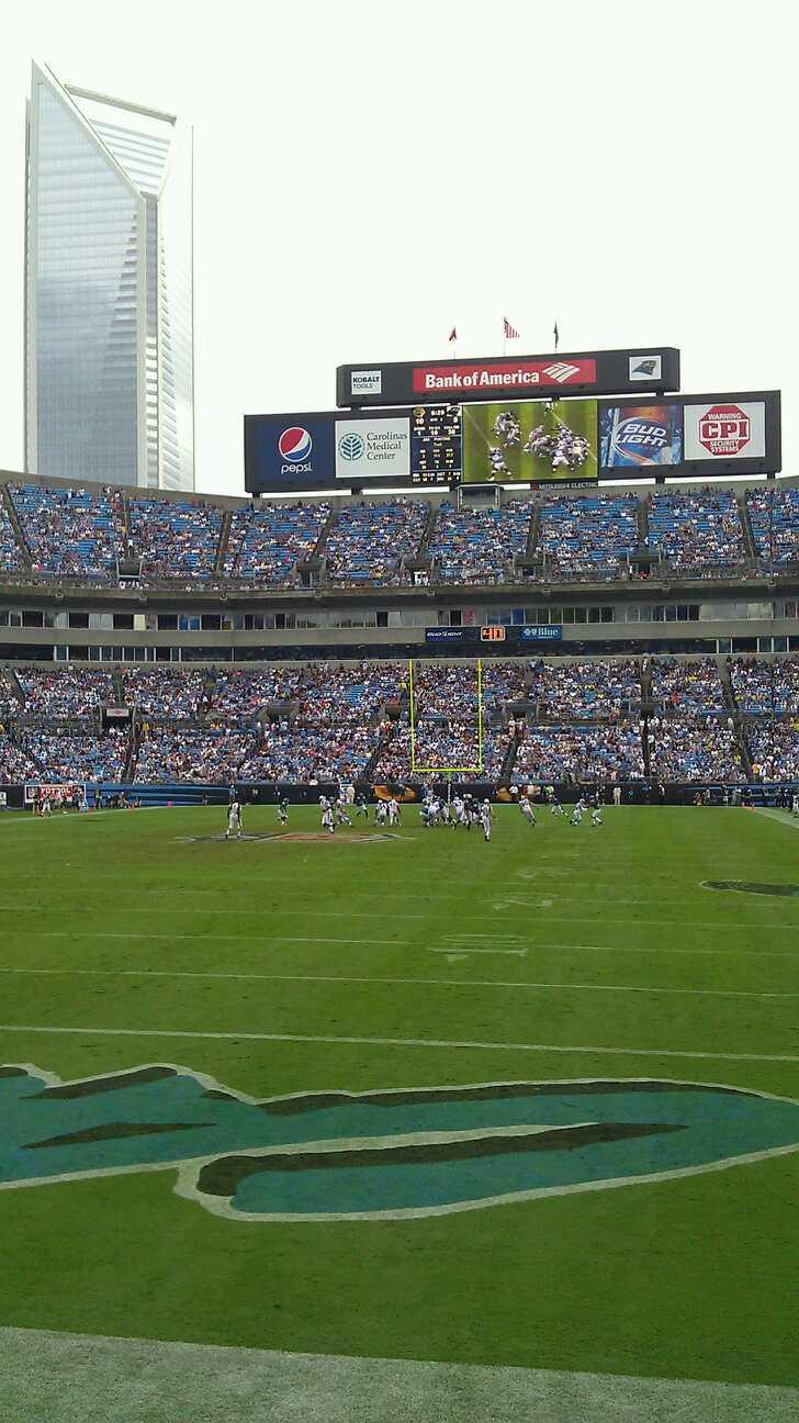 Bank of America Stadium Section 140 Row 3 Seat 11