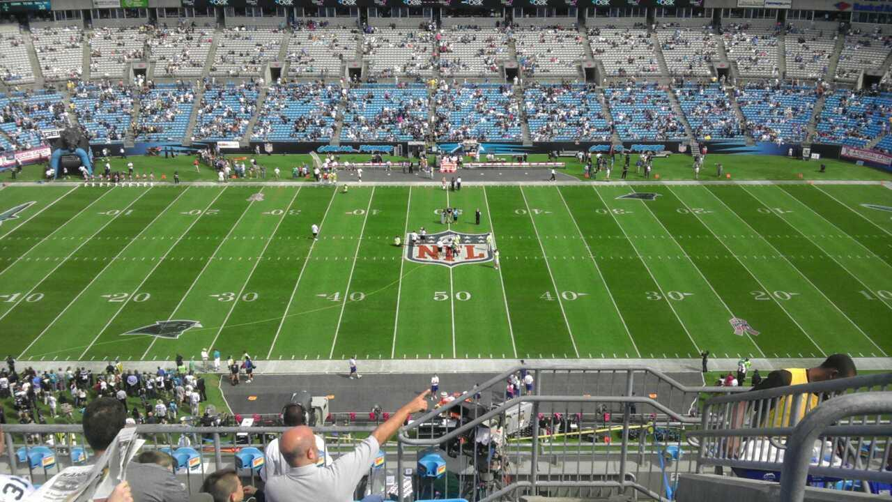 Bank of America Stadium Section 542 Row 6 Seat 6
