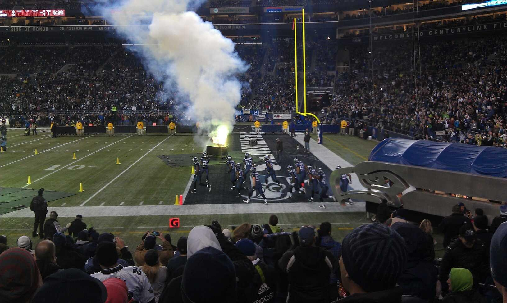Seahawks entering the field