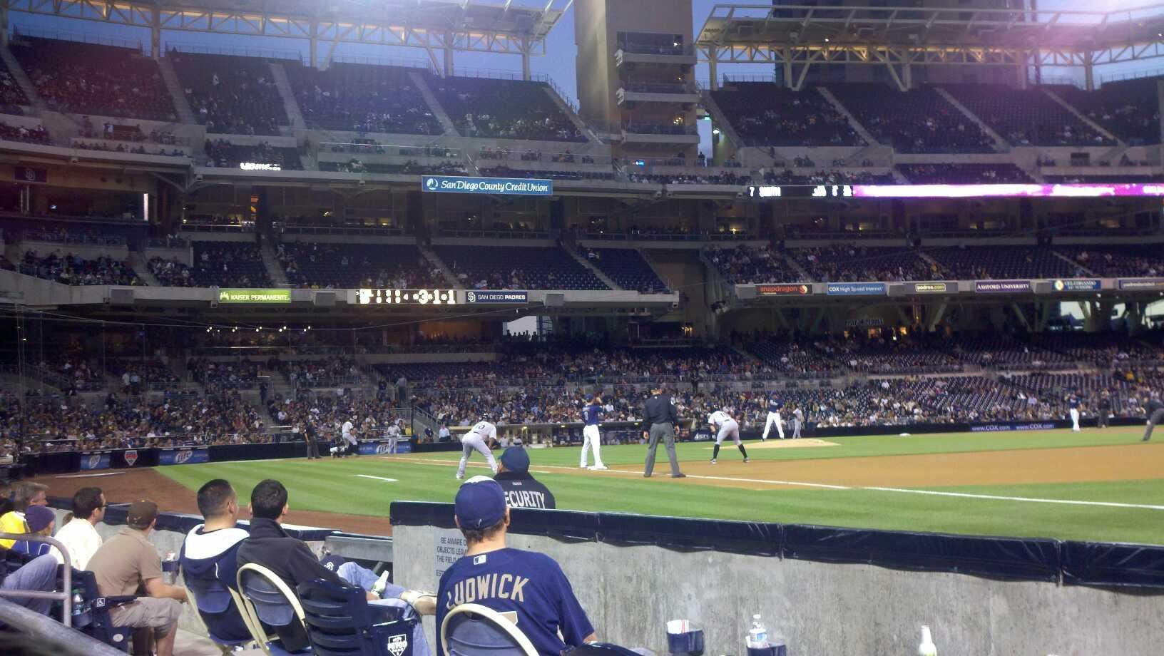 PETCO Park Section 115 Row 4