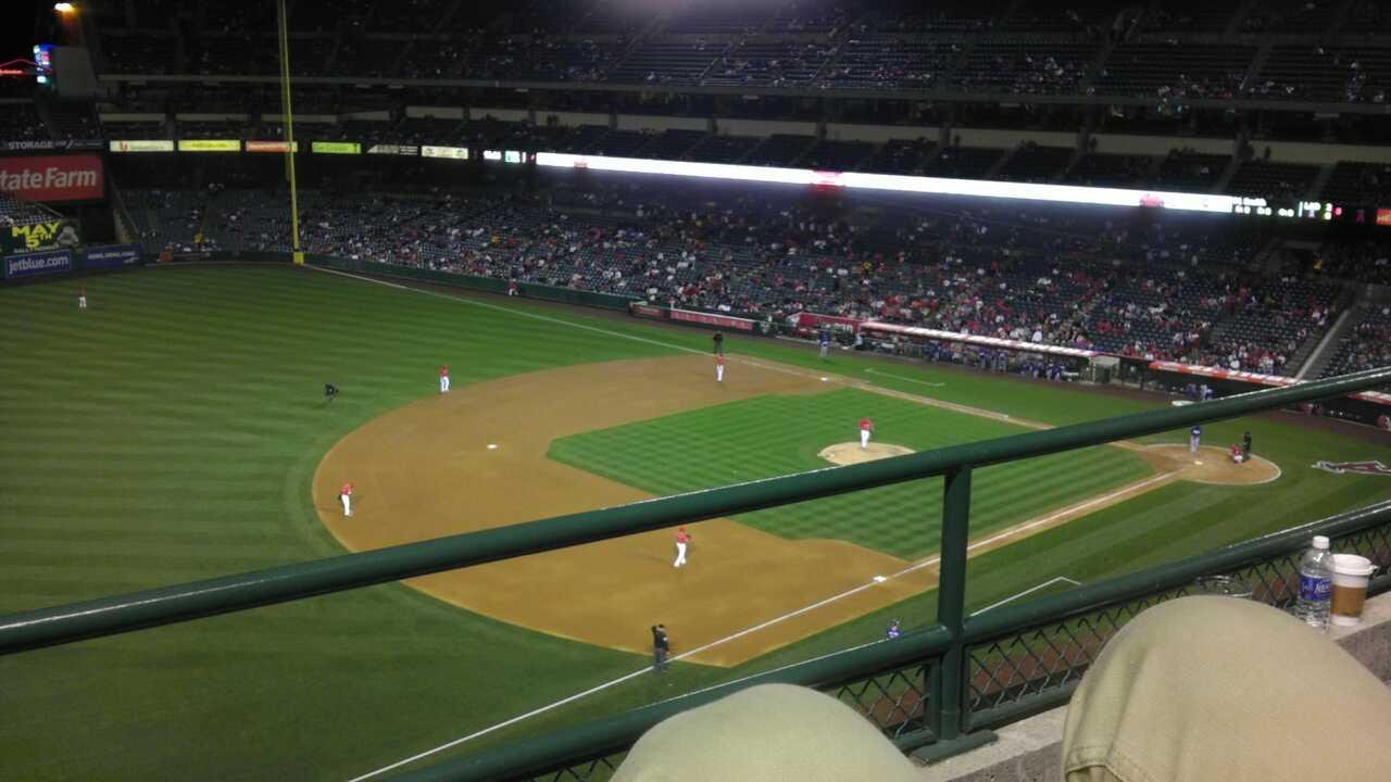 Angel Stadium Section V409 Row B Seat 7