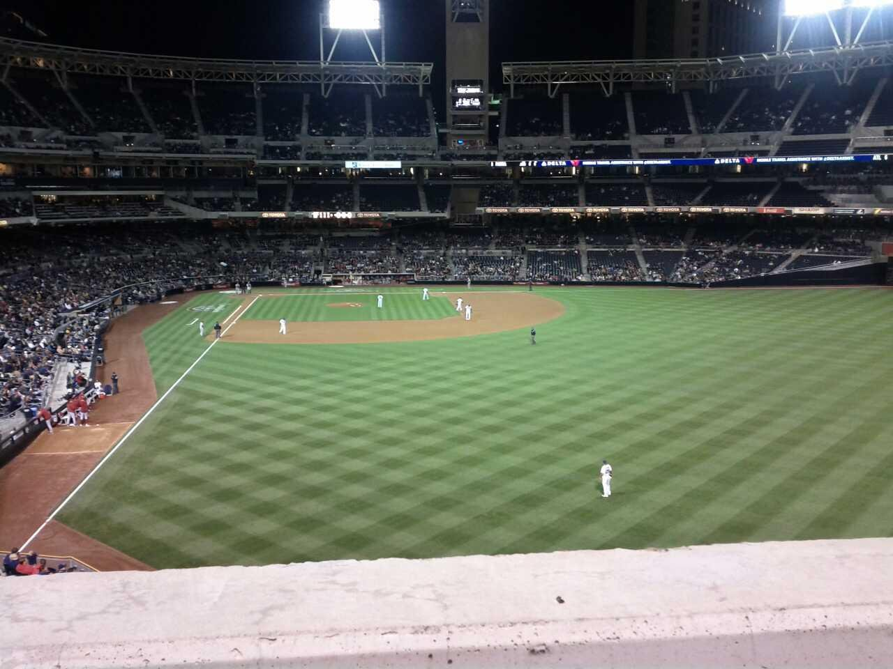 PETCO Park Section 227 Row 1 Seat 3