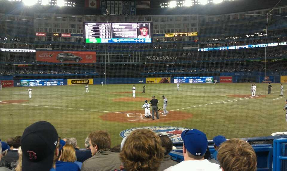 Seating behind the screen at Rogers Centre