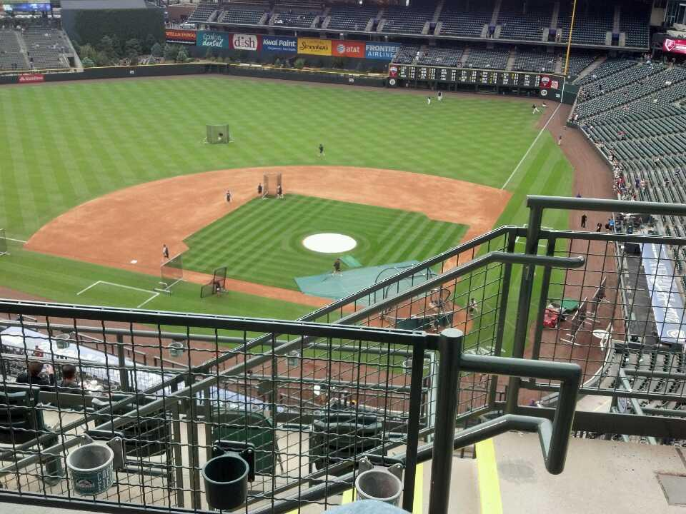 Coors Field Section U334 Row 11 Seat 1