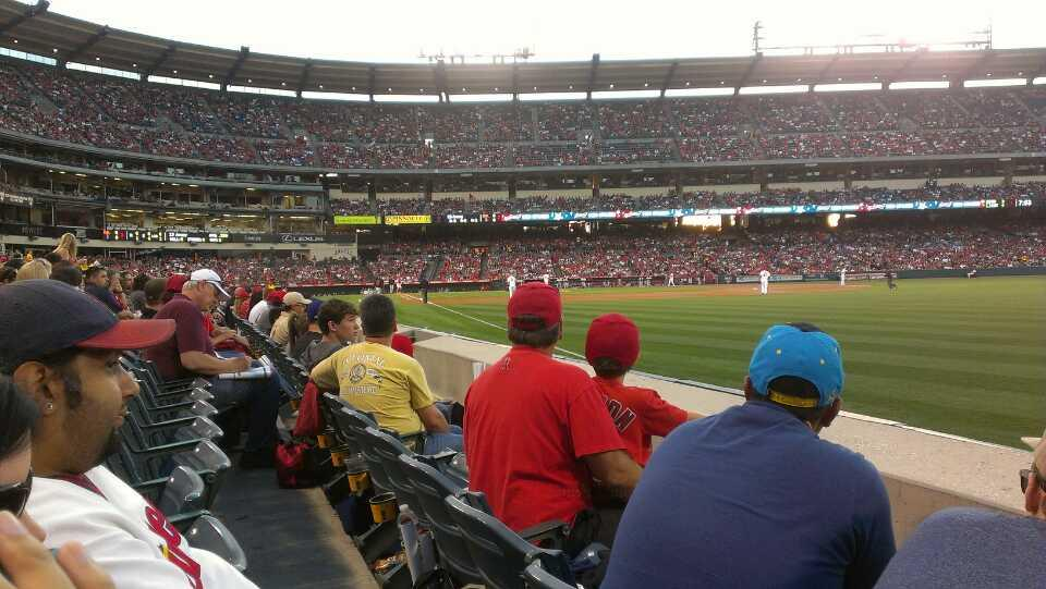 Angel Stadium Section F131 Row B Seat 13
