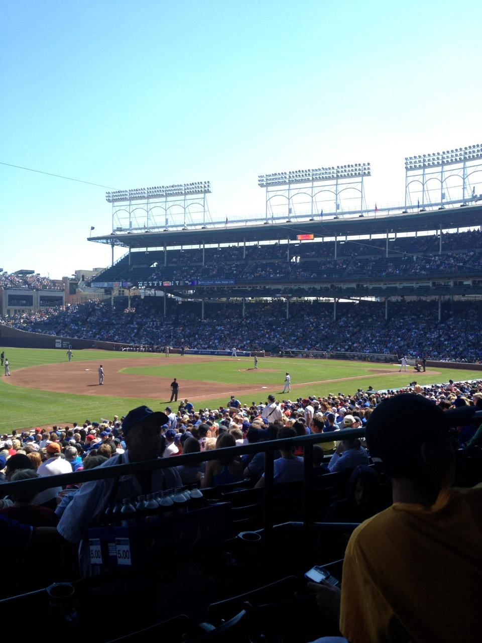 Wrigley Field Section 206 Row 3 Seat 10