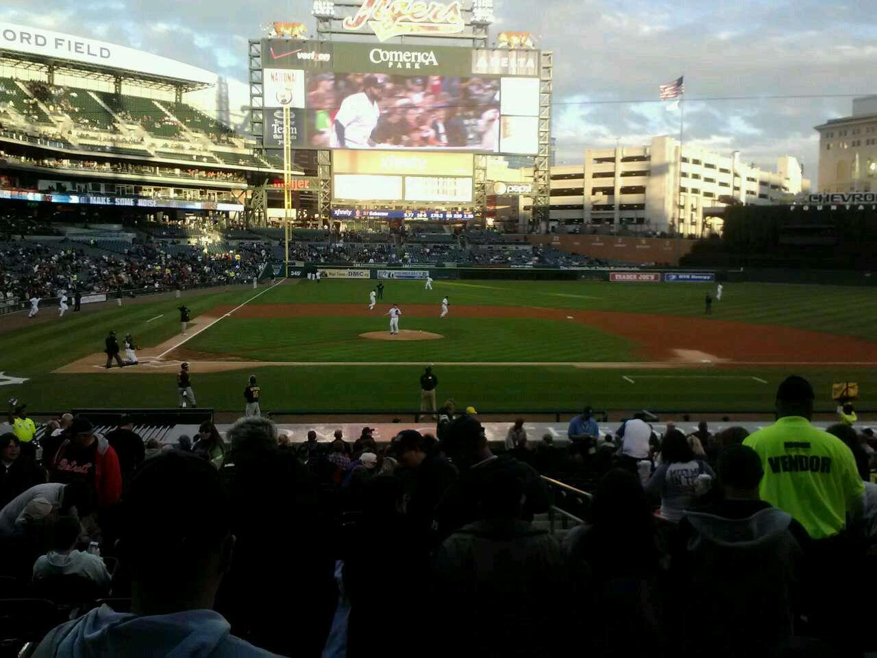 Comerica Park Section 123 Row 31 Seat 4