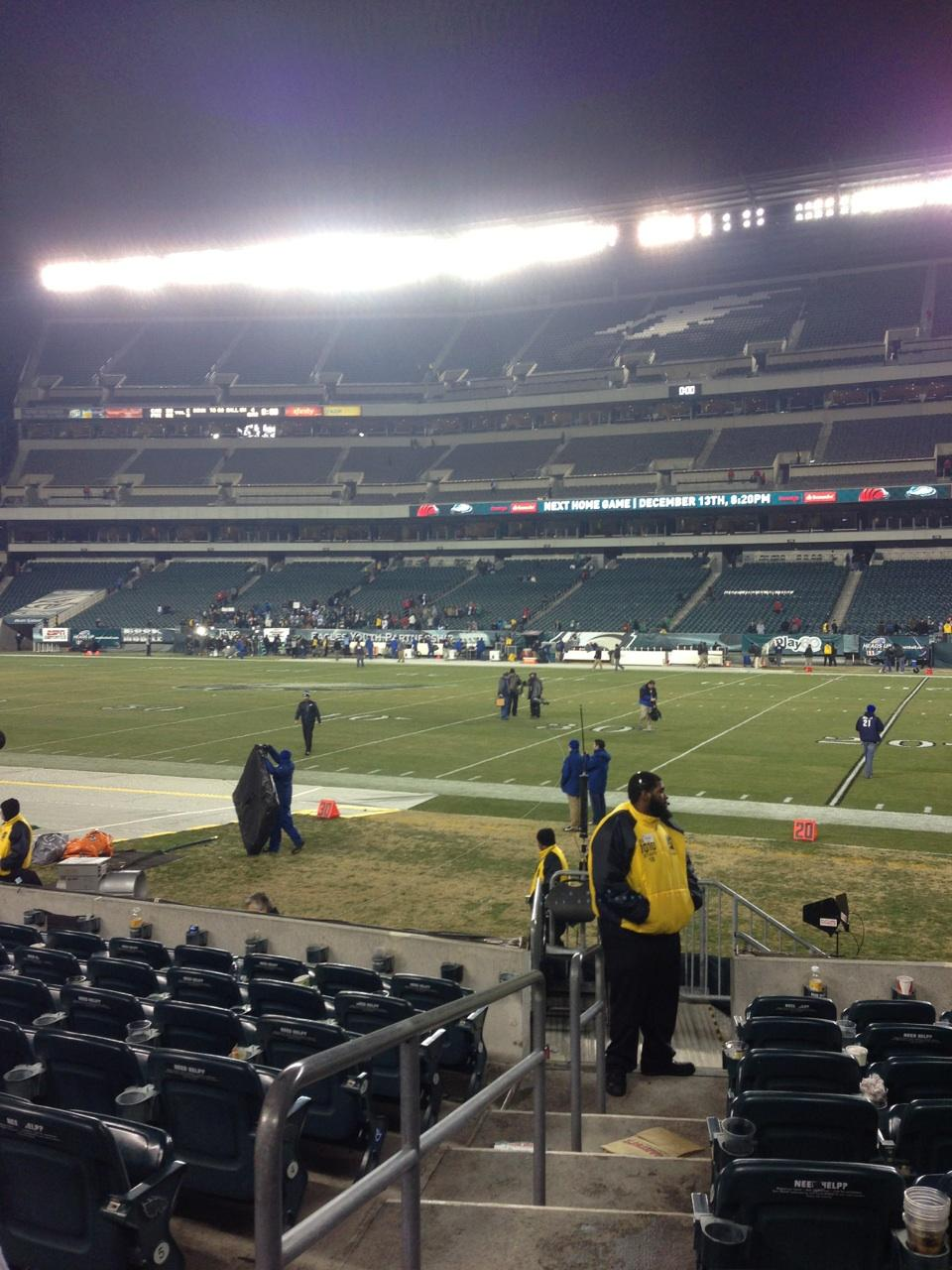 Lincoln Financial Field Section 104 Row 9 Seat 20