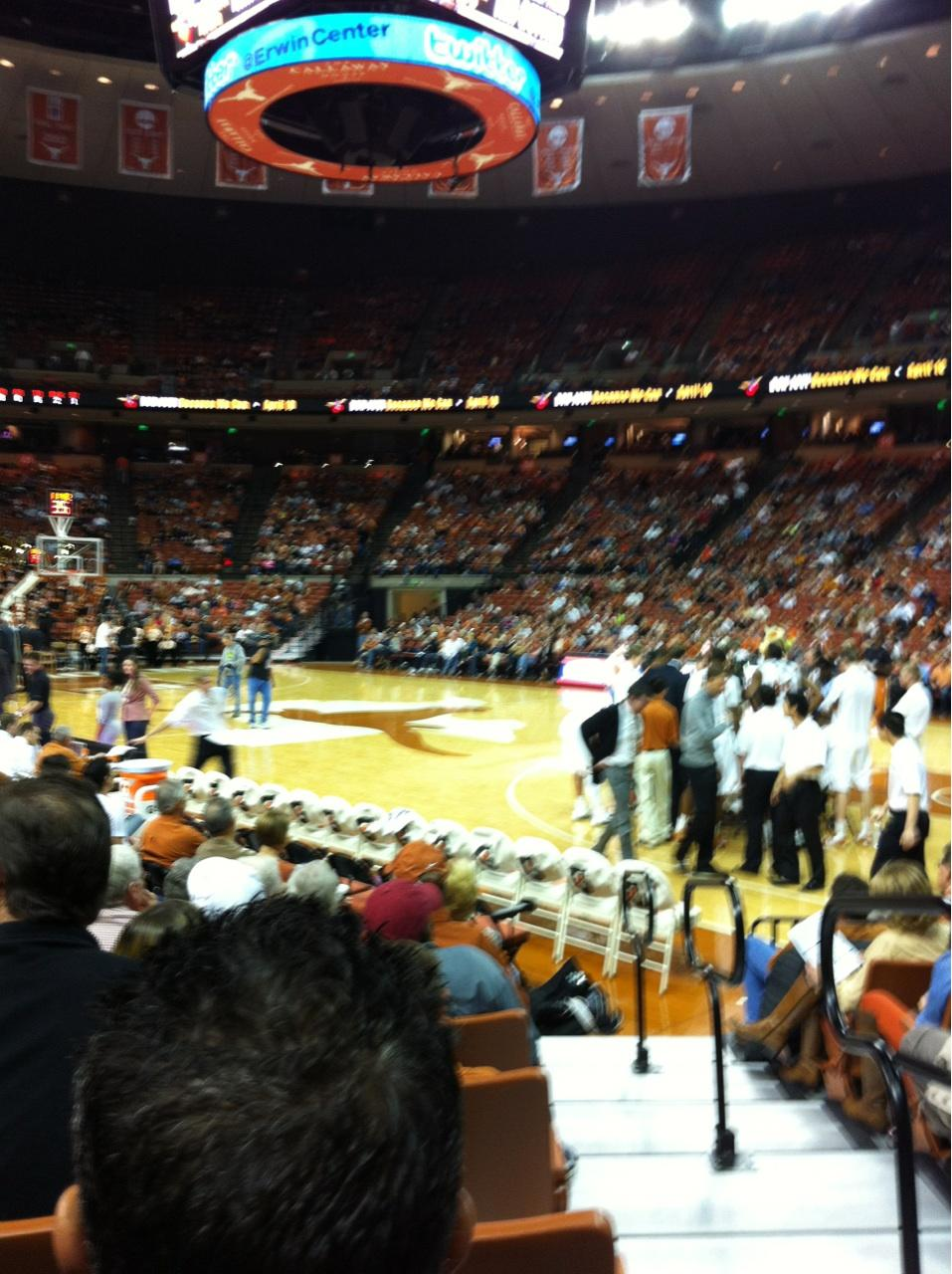 Frank Erwin Center Section 23 Row 12 Seat 11