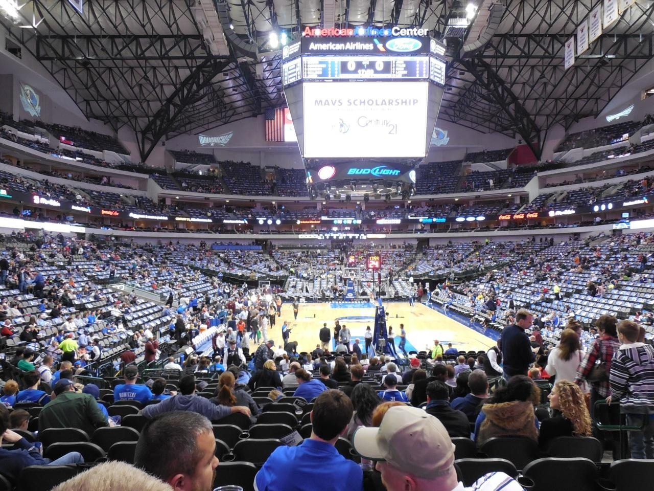 Dallas Mavericks American Airlines Center Section 113