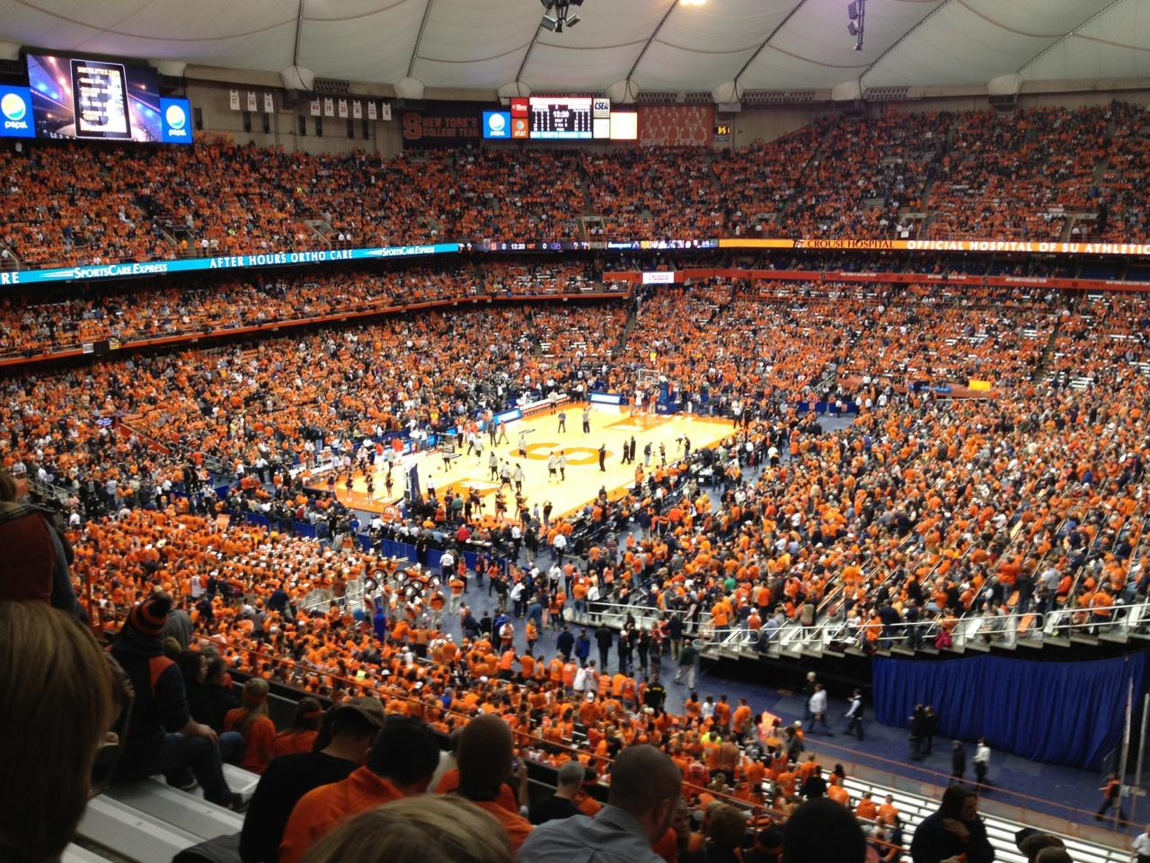 Carrier Dome section 301 row K seat 4 - Syracuse Orange vs ...