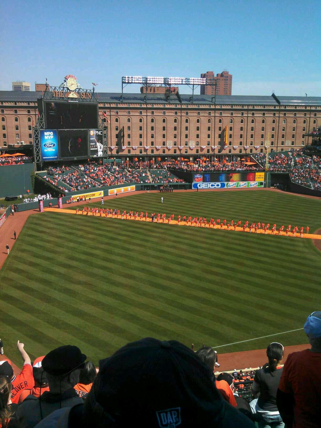 Oriole Park at Camden Yards Section 368 Row 8 Seat 14