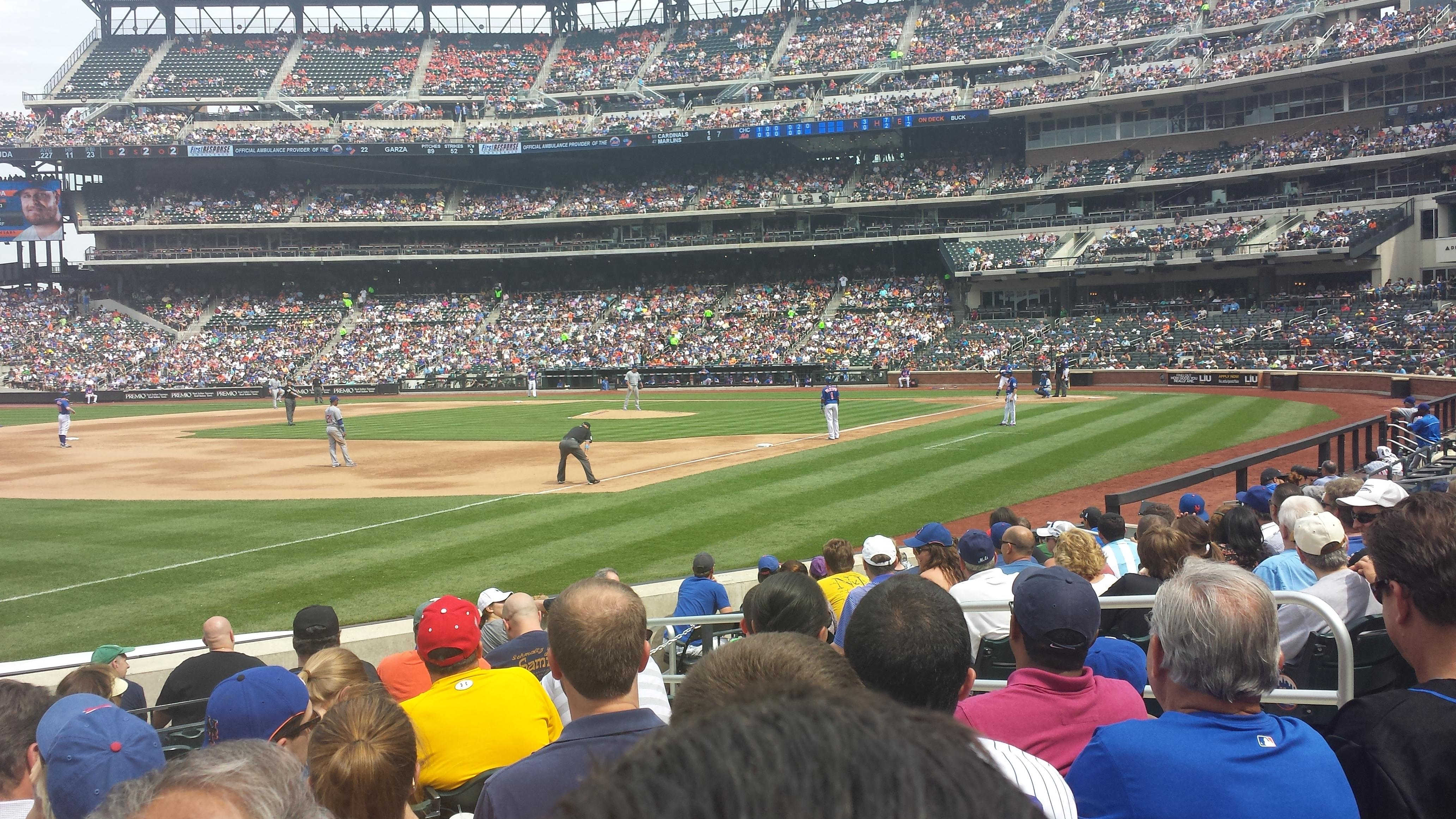 Citi Field Section 126 Row 7 Seat 6 New York Mets Vs