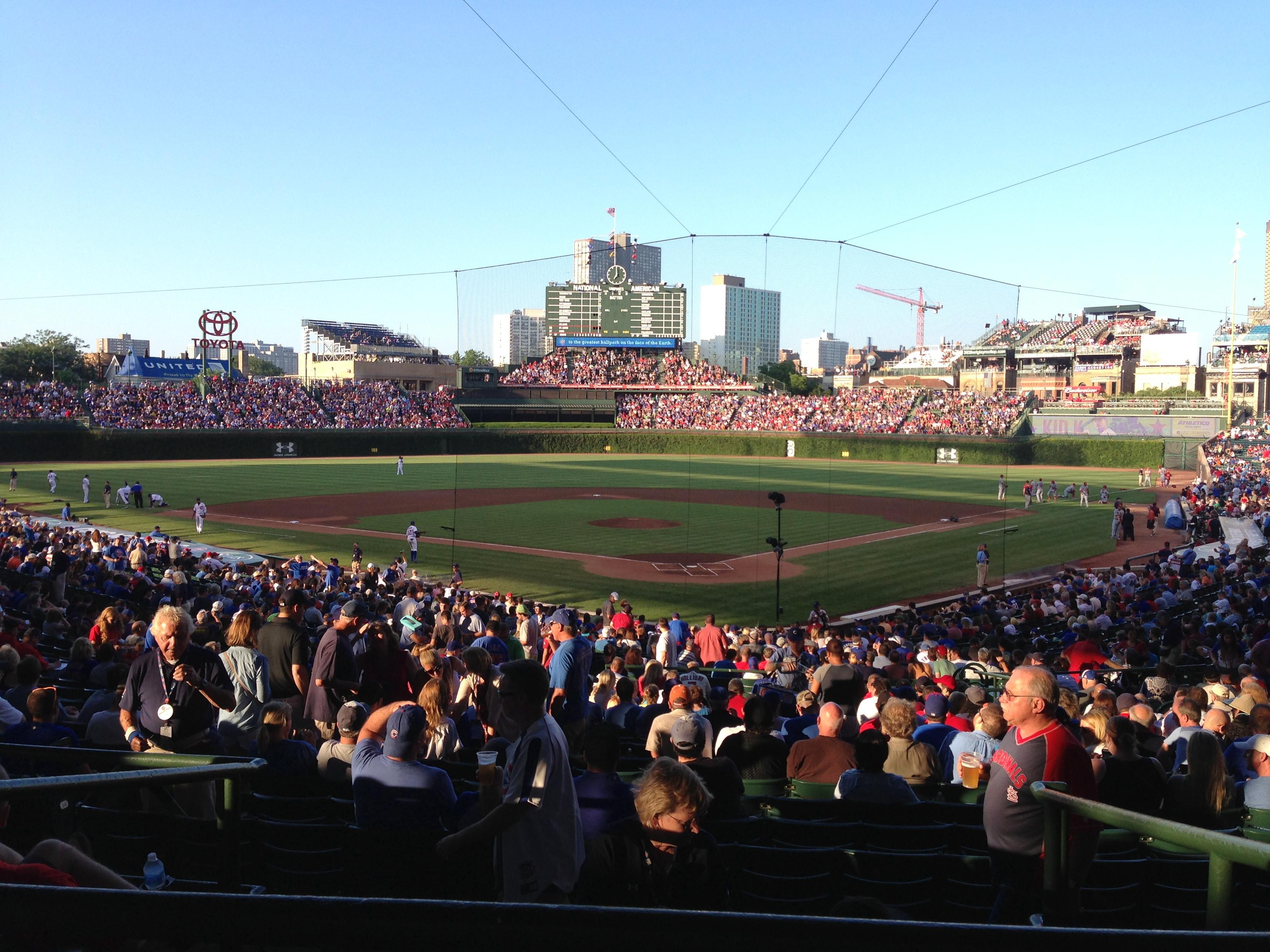 Wrigley Field section 219 row 5 seat 103 - Chicago Cubs vs ...
