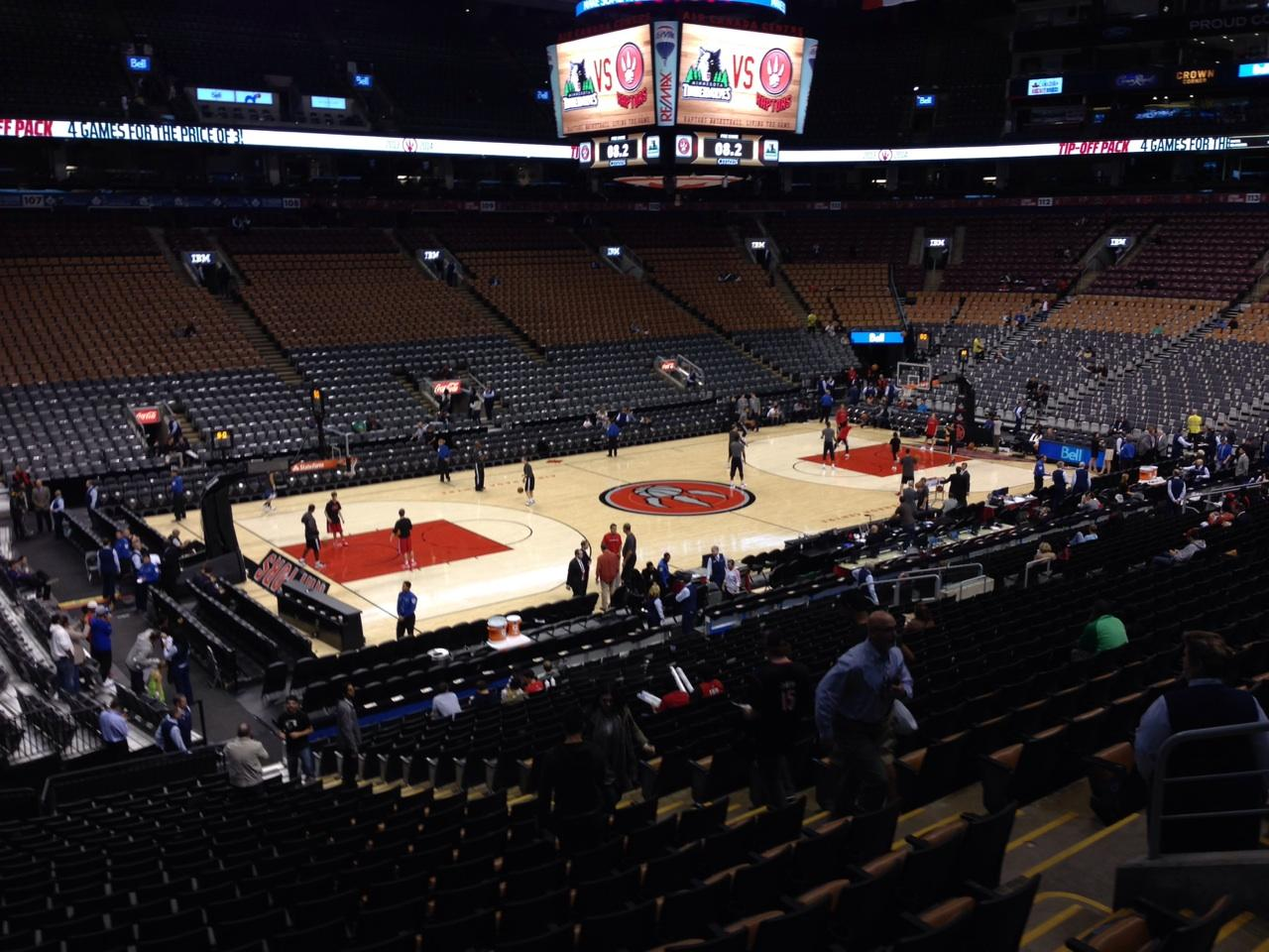 Toronto Raptors Seat View for Air Canada Centre Section 121, Row 25, Seat 9