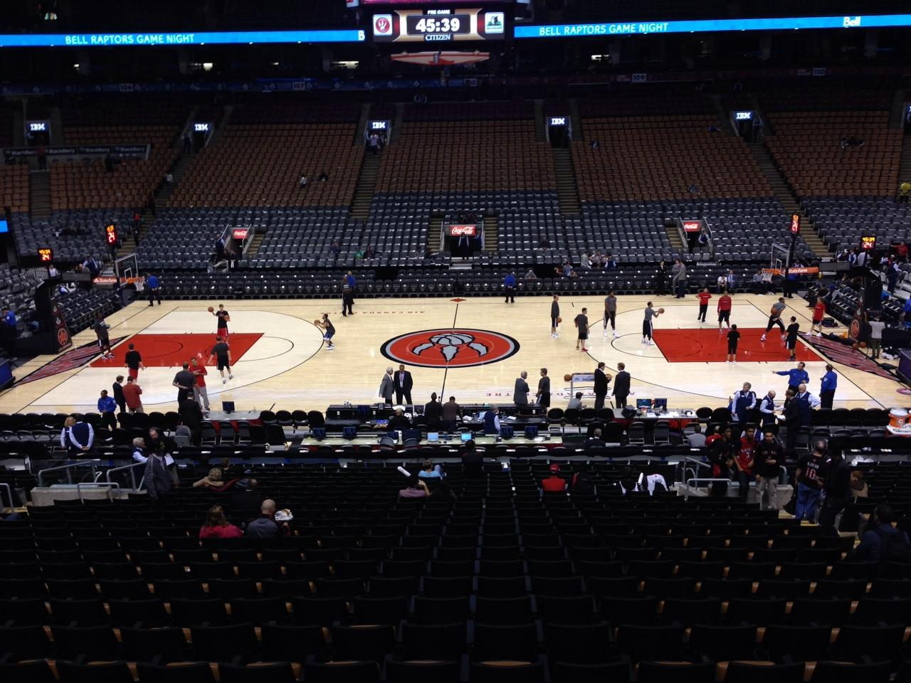 Toronto Raptors Seat View for Air Canada Centre Section 119, Row 25, Seat 7