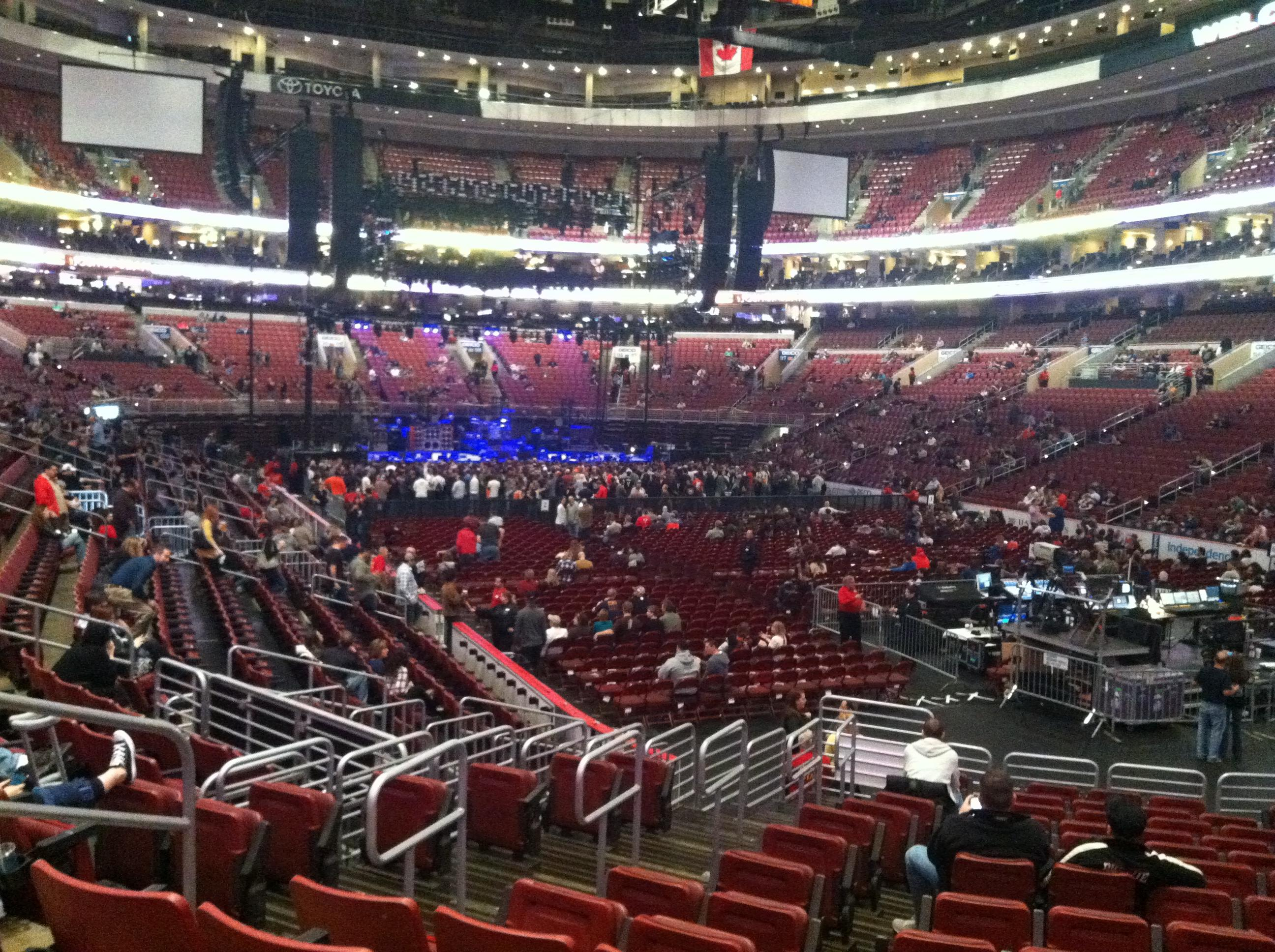 Seating view for Wells Fargo Center Section 105 Row 15 Seat 5