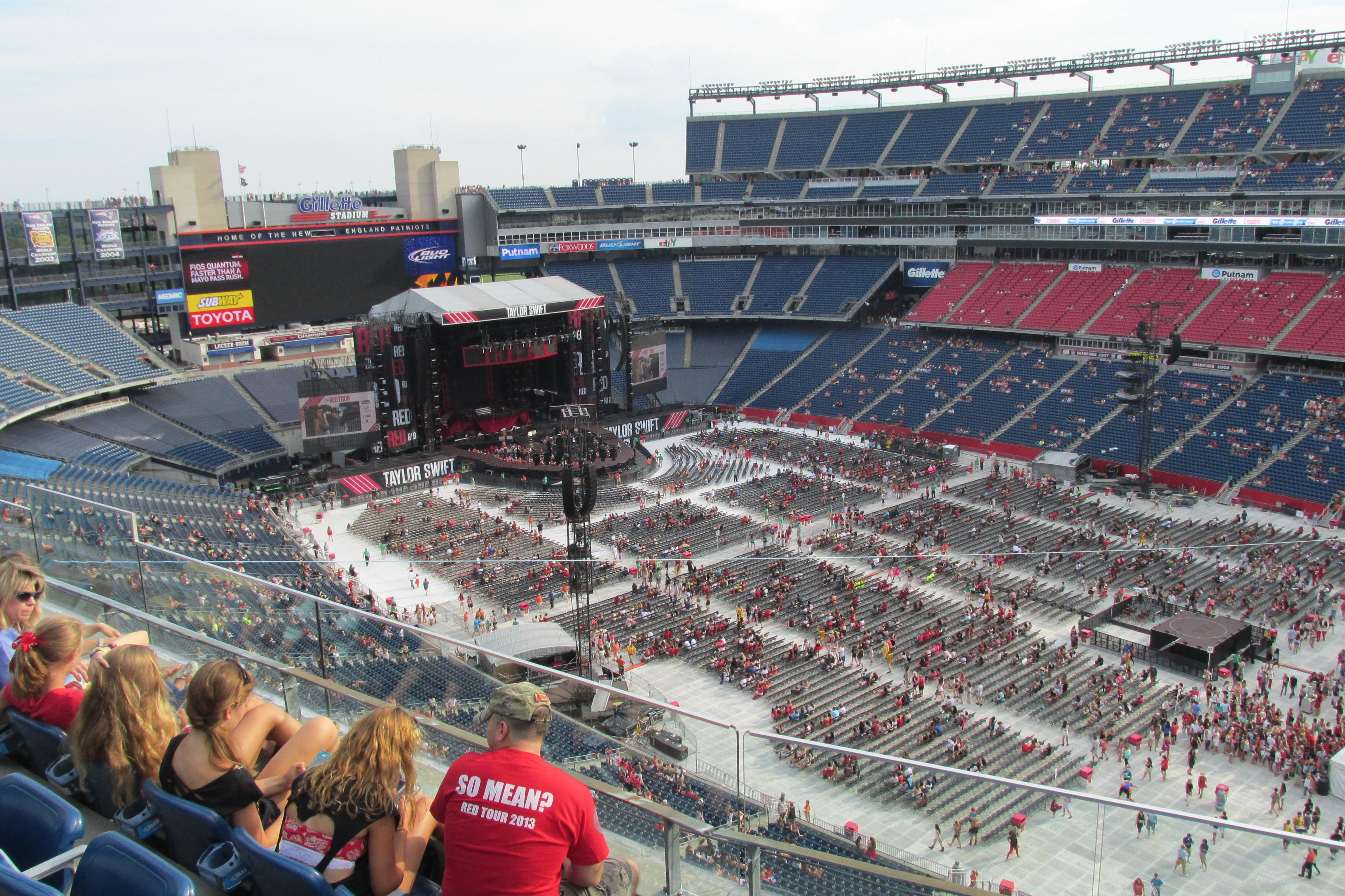 Gillette Stadium Taylor Swift Vs The Red Tour Shared
