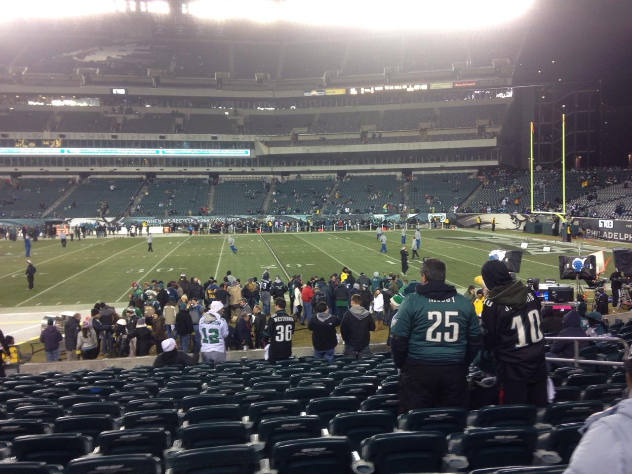Lincoln Financial Field Section 123 Row 14 Seat 11